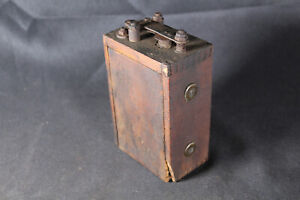 Antique Model T A Automobile Car Dovetailed Wood Box Ignition Spark Buzz Coil