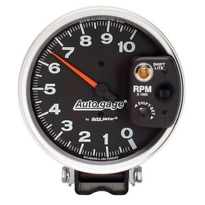 Autometer 233903 Autogage Monster Shift Lite Tach 5 10k Rpm