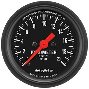Autometer 2655 Z series Electric Pyrometer Gauge