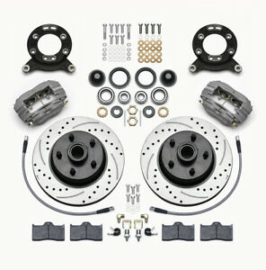 Wilwood 140 13476 d Front Disc Brake Kit 65 69 Mustang Drilled