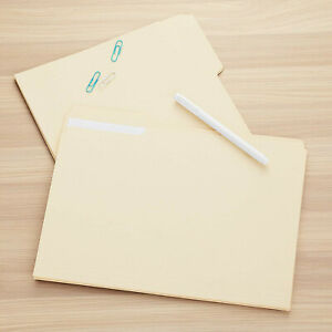 100 Ct File Folders Manila 1 3 Cut Assorted Top Tab Letter Size Office Supplies