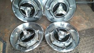 Genuine 1966 Dodge Charger 14 Inch Spinner Hubcaps Wheel Covers
