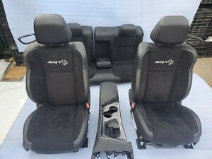 2015 2020 Dodge Charger Front Rear Seats Black Leather Suede Oem