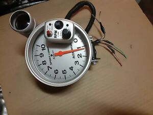Autometer 5 Sport Comp Silver Monster Tach W shift light 10k Rpm