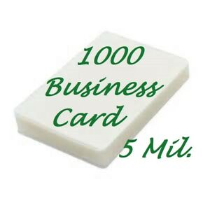 1000 Business Card 5 Mil Laminating Pouches Laminator Sheets 2 1 4 X 3 3 4