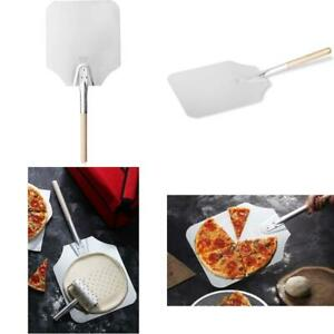 Pizza Peel Aluminum Blade Wooden Handle Bake Ware Home Kitchen Baking Use 26 In