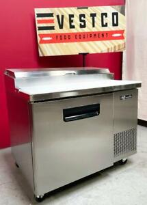 Blue Air bapp44 44 6 Pan 1 3 Size One Door Refrigerated Pizza Prep Table