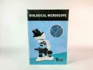 Telmu 40x 1000x Microscope Adjustable Dual Led Illumination Open Box