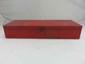 Snap On Kra 104 Small Red Metal Tool Storage Box Case Vintage Made In Usa