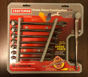 Usa Craftsman Cross Force Combination Wrench Set Metric Rare 8pc 46521