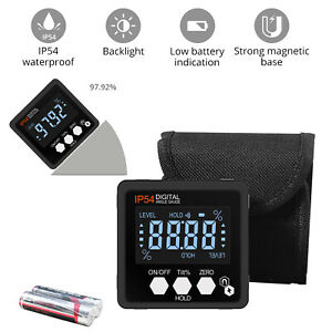 360 Digital Lcd Level Box Angle Finder Gauge Magnetic Protractor Inclinometer