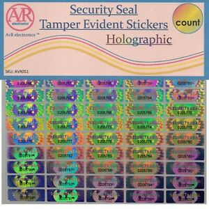 Security Seal Tamper Proof Security Sticker serial Numbers avr051