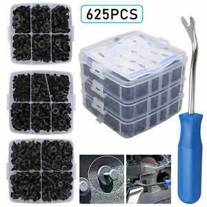 625pcs Car Push Retainer Clips Auto Fasteners Trim Clips Pin Rivet Bumper Kit