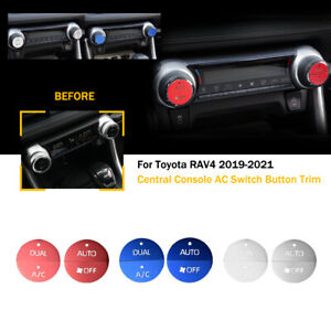 For Toyota Rav4 2019 2021 Aluminum Alloy Central Console Ac Switch Button Trim