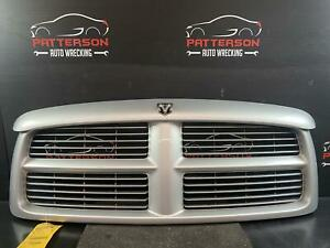 2002 Dodge Ram 1500 Grill Grille Bright Silver Paint Code Ps2