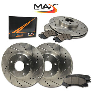 2002 Chevy Suburban 2500 6 0l Slotted Drilled Rotor W ceramic Pads F r