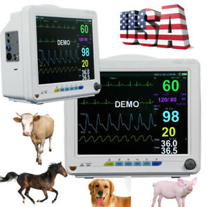 Vet Patient Monitor Nibp Spo2 Ecg Temp Resp Pr Vital Signs Icu Ccu Monitoring Us