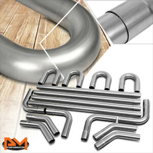 Diy Custom 4x Straight 45 90 Degree U bend 16 Pcs 2 5 od Exhaust Piping Kit