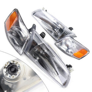 Left Right Headlight Corner Lamp Replacement Set Fits 1997 1999 Toyota Camry