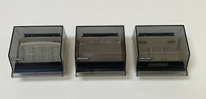 Vintage Lot Of 3 Rolodex S300c Small Petite Covered Card Files Oop Rare