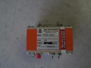 Trak Microwave Tunable Oscillator Various Frequency Ranges From 10 Mhz To 1 Ghz