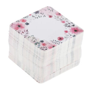 Pack Of 100 Exquisite Necklace Display Paper Card Square Jewelry Holder