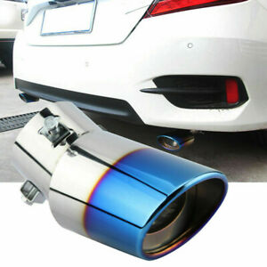 Car Exhaust Pipe Tip Tail Muffler Stainless Steel Replacement Parts Universal