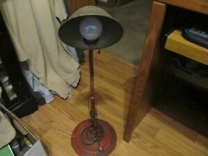 Antique Electric Cast Iron Base Gooseneck Dest Lamp Tall Working A Oldie L k