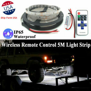 16 Ft Led Underbody Glow Under Car Accent Rock Neon Light Kit Fit Toyota Tundra