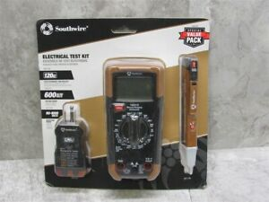 New Southwire 10037k Test Kit Includes Multimeter Ac Tester And Voltage Tester