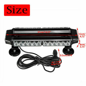 15 Amber 30 Led Rooftop Strobe Light Bar 30w Emergency Beacon Warning Flashing