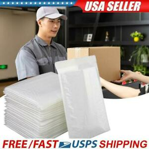25pcs White Poly Bag Bubble Mailers 4x8inch Small Shipping Envelopes Padded Bags