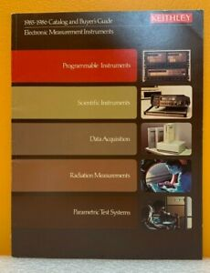 Keithley Instruments 1985 1986 Catalog Buyers Guide