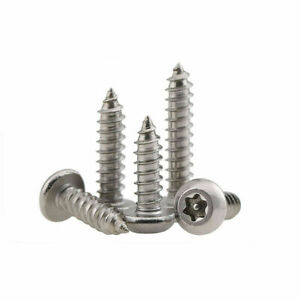 Torx Security Screws Self tapping Tamper Button 304 Stainless M2 9 3 5 3 9 4 8