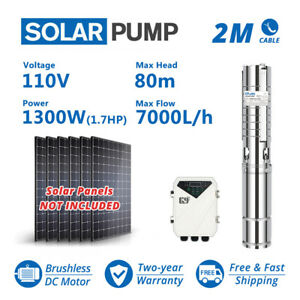 4 Solar Water Pump S s Impeller 260feet 31gpm Submersible Dc Deep Bore Well