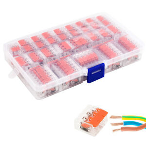 221 Electrical Wago Connectors Wire Block Clamp Terminal Cable Reusable 2 3 5 Ad