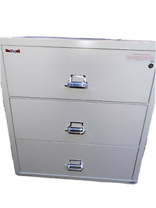 Fireking 3 4422 c Three Drawer 44 Wide Lateral File Cabinet