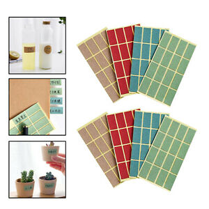 8 Sheet Waterproof Self Adhesive Sticker Labels Name Tag Stickers 4 Colors