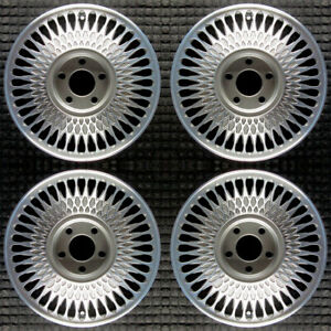 Cadillac Deville Machined W Charcoal Pockets 15 Oem Wheel Set 1989 To 1993