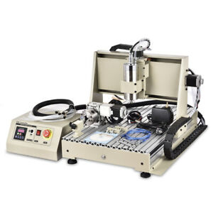 1 5kw Spindle 4 Axis 6040 Cnc Router Engraver Diy Milling Driiling Machine Usb