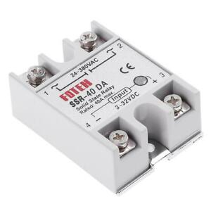Single Phase Dc 3 32v To Ac 24 380vac Ssr 40da 40a Solid State Relay Module Us