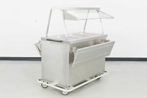 Used Duke Ep3cbss m 3 well Electric Steam Table W sneeze Guard 659769