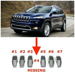 2014 2015 2016 2017 2018 Jeep Cherokee Front Bumper Grille Chrome 68303626aa
