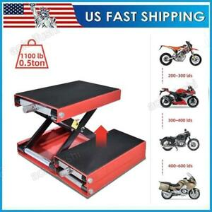 1100lbs Motorcycle Hydraulic Scissor Floor Jack Stand Lift Hoist Garage Repair