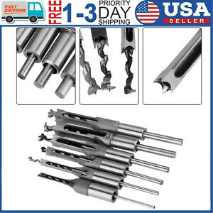 6pcs Set Hole Saw Auger Drill Bit Mortising Chisel Woodworking Tool Kits
