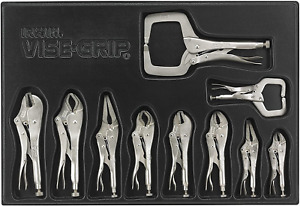 10piece Locking Pliers Craftsman Vise Grip Curved Jaw Wire Cutter Multi Tool Set