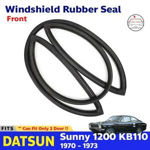 Front Windshield Rubber Seal Weatherstrip Fits Datsun Sunny 2d Kb110 Coupe 70 73