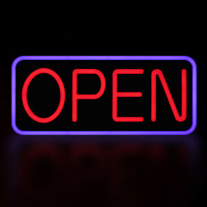 Vevor Open Sign Led Neon Light 21x9 5 Bright Ad Board For Business With Remote