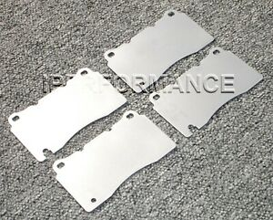 Titanium Brake Heat Shield Set Notched Ford Mustang Brembo 2007 2014 Front