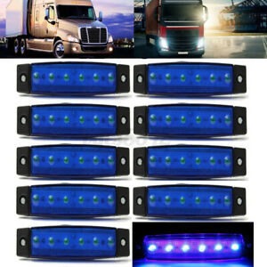 10x 12v Led Side Marker Indicators Lights Bus Truck Trailer Universal B